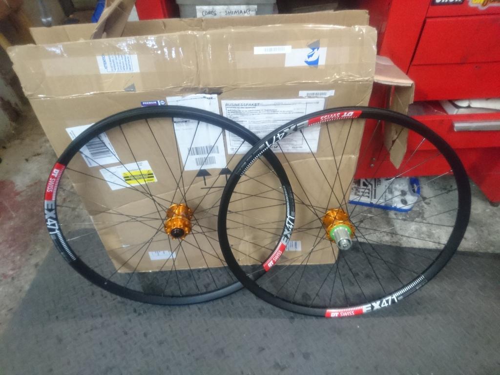 New wheels - hope pro 4 on DT EX471