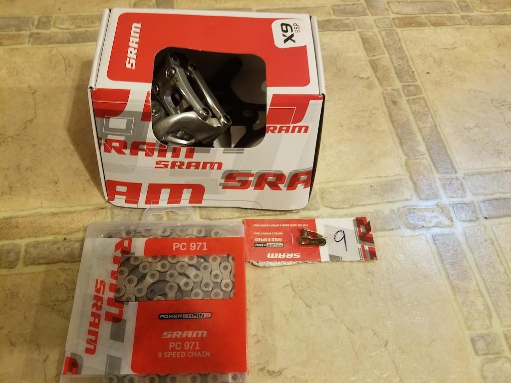2015 Sram X9 9 Speed Rear Derailleur - Brand New