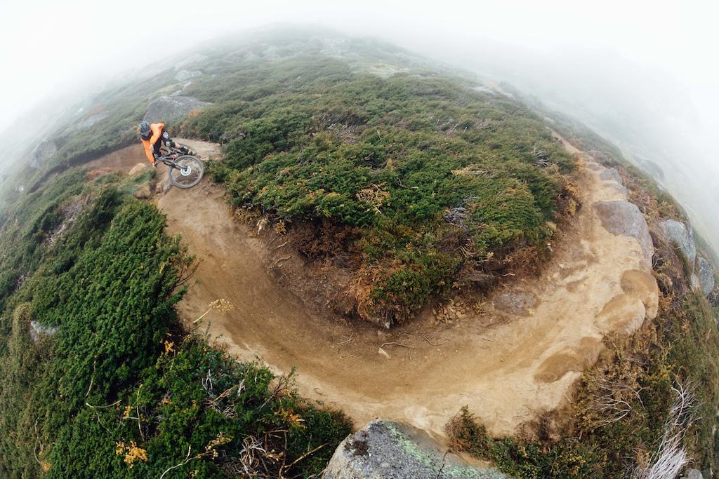 Baxter Maiwald samples fresh trail we helped develop for Dirt Art.
