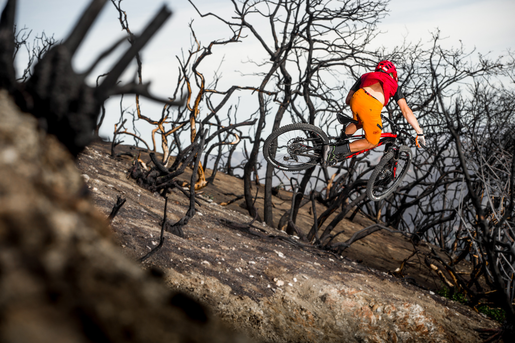 Wildfire - Spencer riding the new 100 apparel Celium Jersey amp Short.