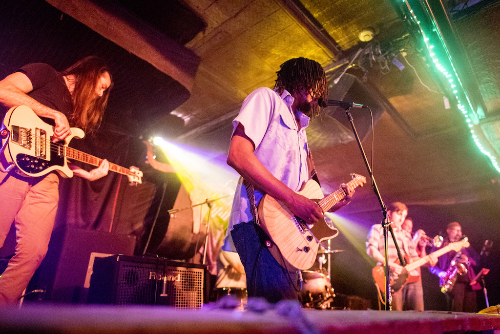 Black Joe Lewis was the headline performer at the Whiskey Music Festival this year.