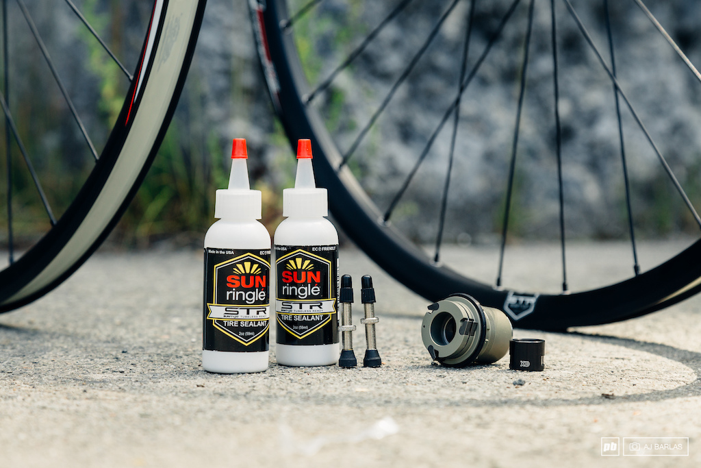 Wheels w regular freehub and tubeless tape plus sealant tubeless valve stems and XD freehub are all included