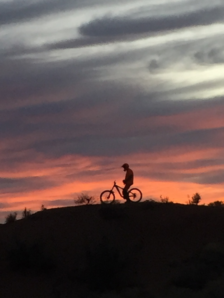 Riding the last of the light at the old rampage site
