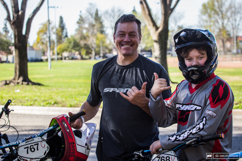 Eric Carter made a name for himself racing BMX and Dual slalom back in the day and now passes off his knowledge and love of all things bike to his sons. That definitely deserves a double shaka.
