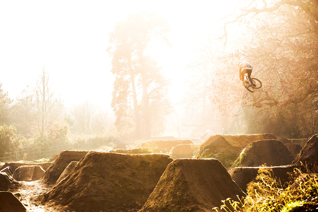 Who'd have thunk this was a December Winter morning at some UK trails!? Lots of amazing light and weather to work with end of last year/start of '17. Not to mention the most important aspect of the shot, Olly Wilkins providing the style as always!