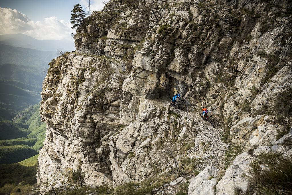 The via alpini variant on the Alta Via trail. Not for the feint hearted.