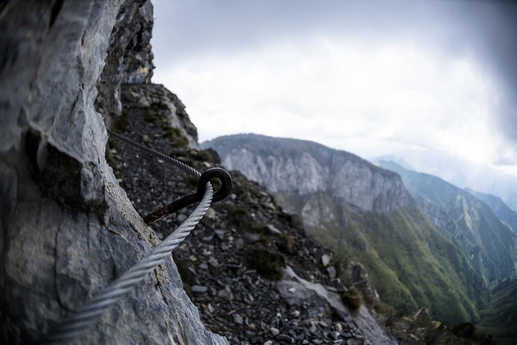Half trail half via ferrata.