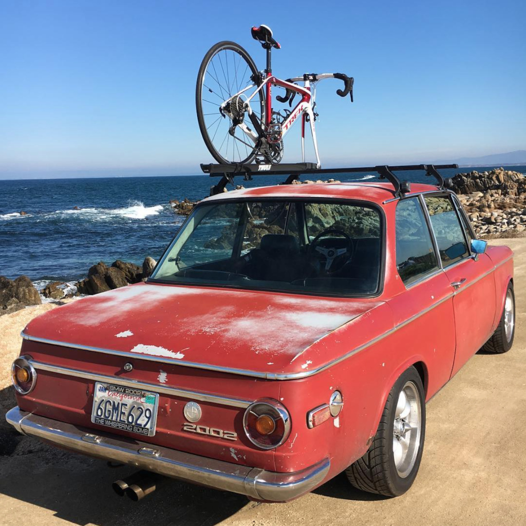Three of my favorite things - My 1970 BMW 2002, My 2013 TREK Domane and the Ocean.  
