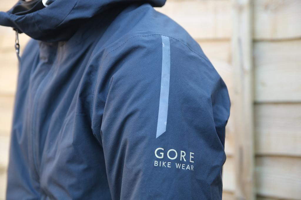 Reflective logo on sleeve