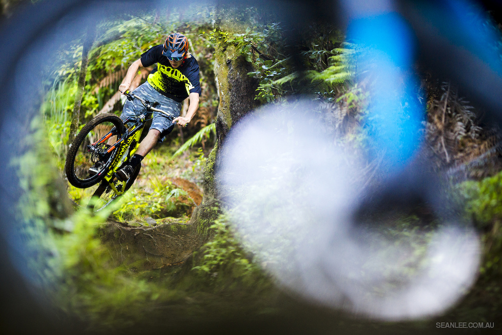 Connor Hamilton sends it through Baxter's front wheel, on location for Crankworx Deep Summer Rotorua.