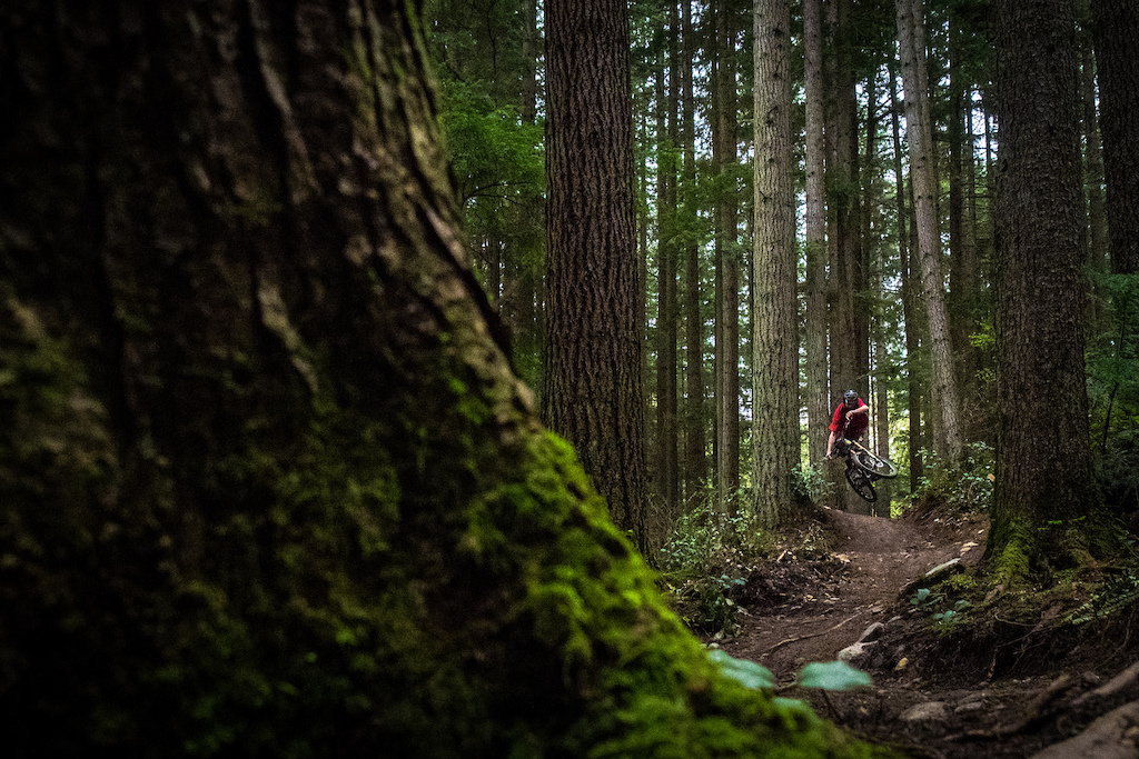 Rider Andrew Teit Location Mt Seymour BC Trail Boogie Nights