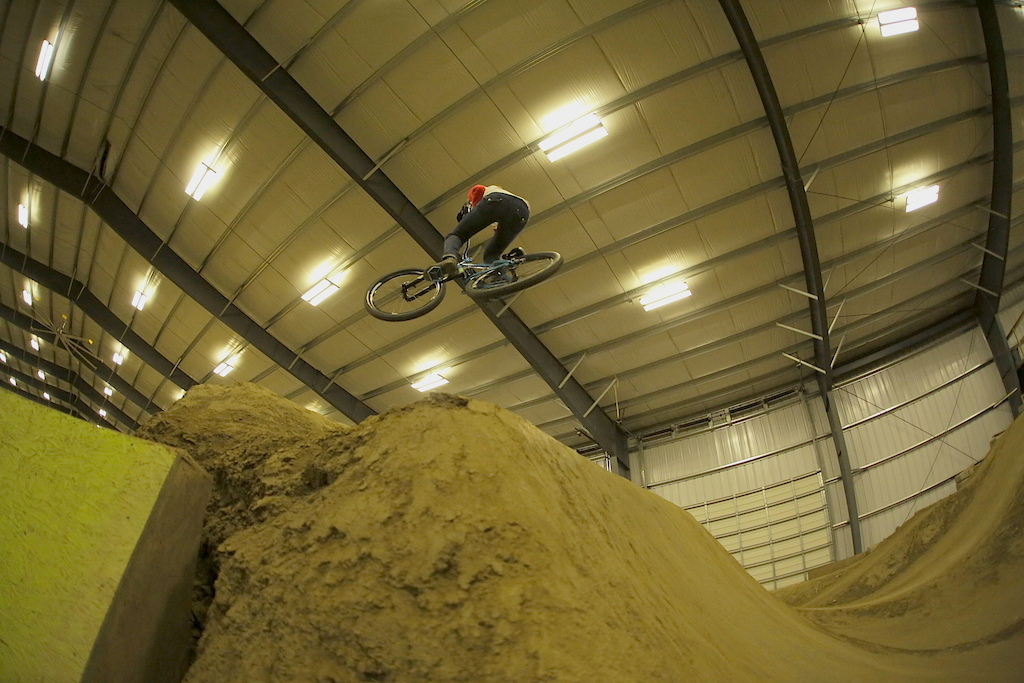 Indoor dirt jumping at Burlington Bike Park. Photo Jay Provins