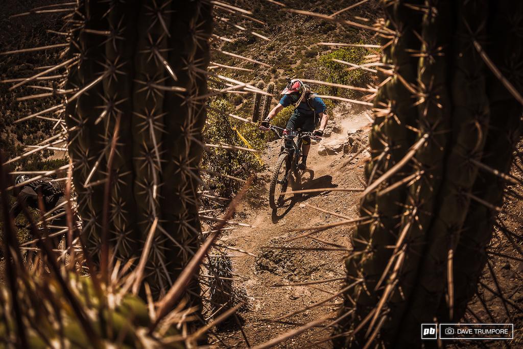 Nico Prudencio between a rock and a sharp place.