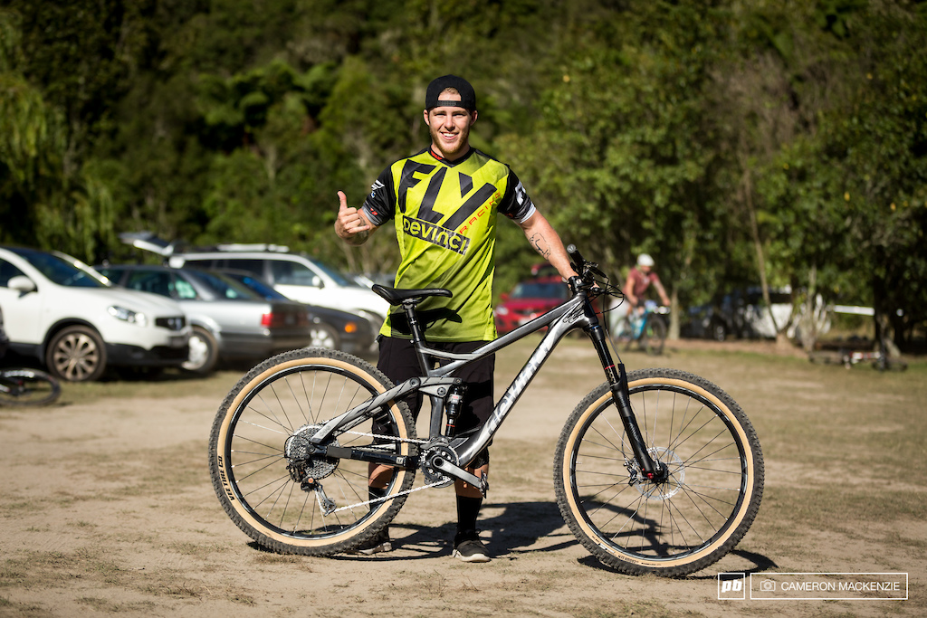 Nate and his Custom Devinci Troy