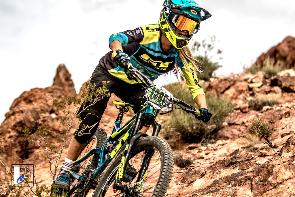 Rachel Throop-Strait Factory GT who has competed all over the world raced here for the first time and claimed she d never seen anything like Bootleg Canyon. She adapted quickly winning both the Super D and Dual Slalom.