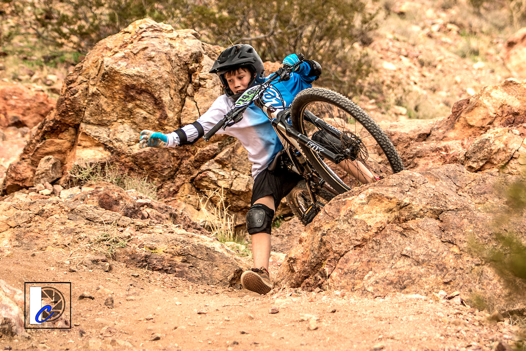 Take it from this rider you DO NOT want to fall in the red rock shrapnel of Bootleg Canyon MTB Park.
