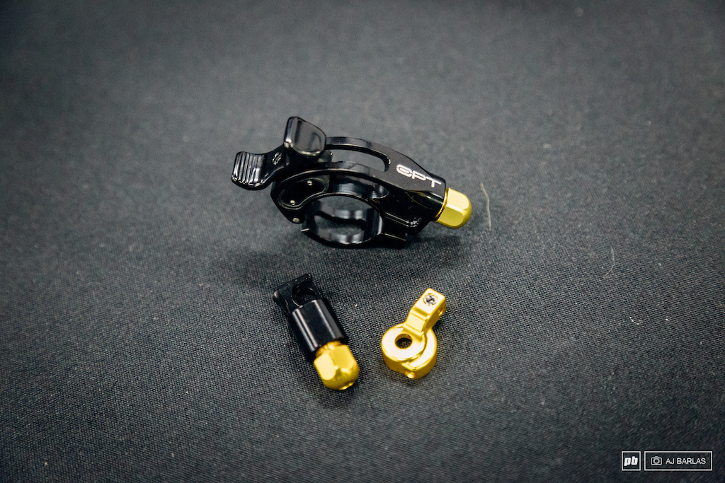 Cane Creek s Opt shock remote lever and parts that replace their shocks pedal assist lever