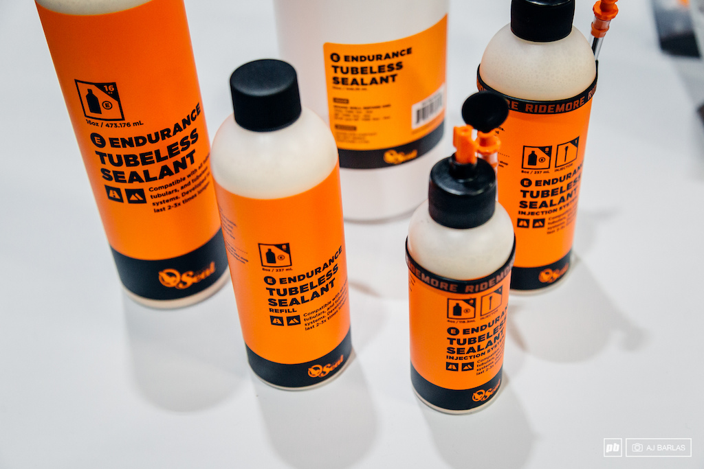 Orange Seal s Endurance tubeless sealant is said to last longer and the brand recommends checking it every 6 8 weeks. The whole system is set around using the valve with the core removed to insert the sealant and the brand provides a dip-stick for when you need to check whether there is still a sufficient amount of sealant in the tire.