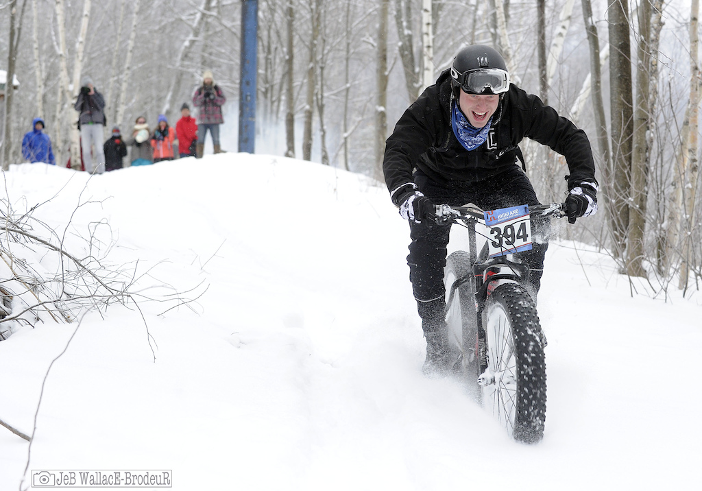 Another grinning rider obviously suffering from some sort of fat bike mania Photo Jeb Wallace-Brodeur
