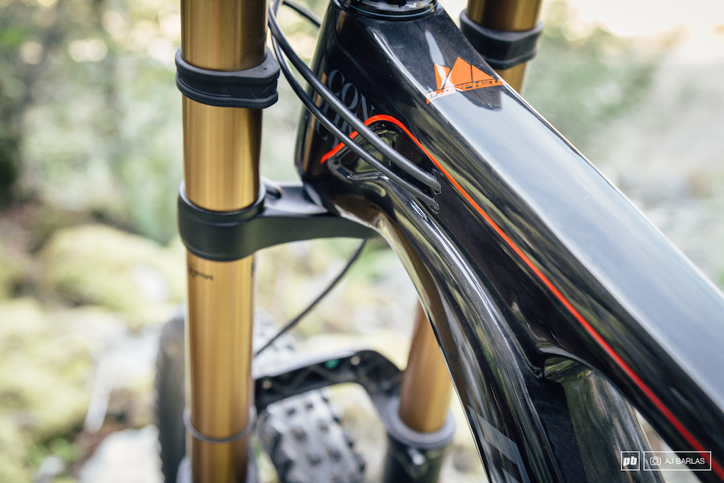 Internal cable routing is set relatively far back from the headtube. There was wear to the headtube as a result