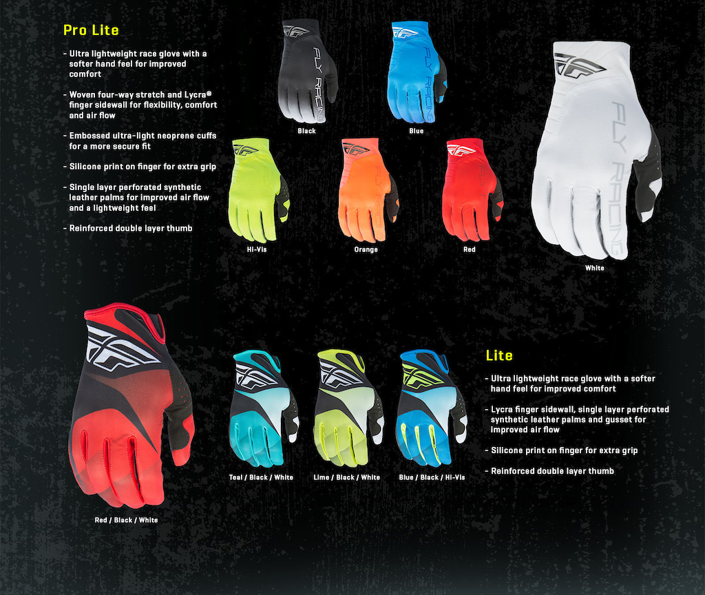 Black gloves races - Fly Racing Mtb 2017 Gloves