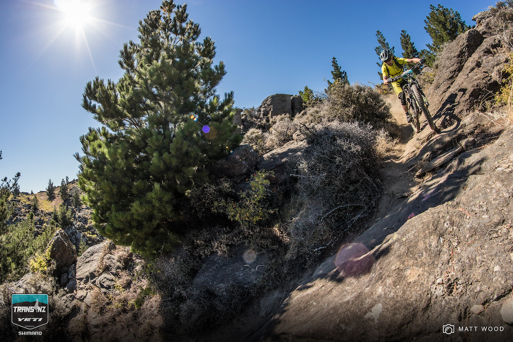 A few riders came unstuck on the steep rocky corners. Jose Iniguez nailed it though.