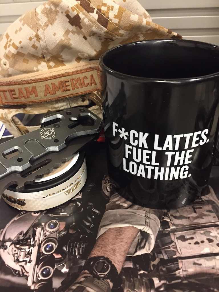 new caffeine  goblet for my tactical coffin, aka desk.....
