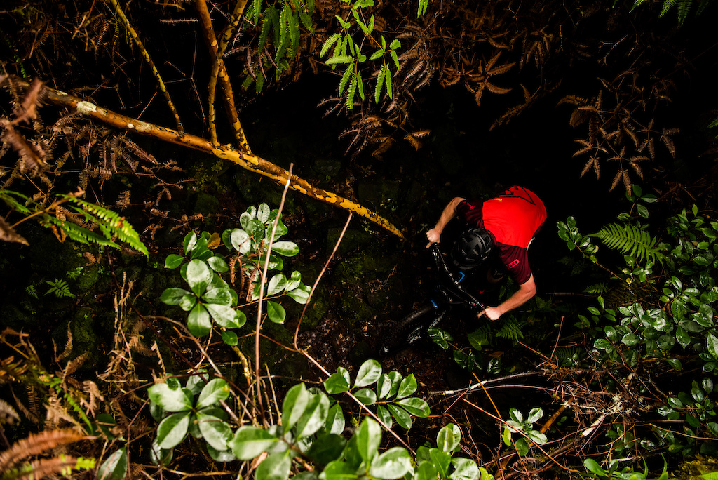 Mike rides through the thickest of thick jungle.