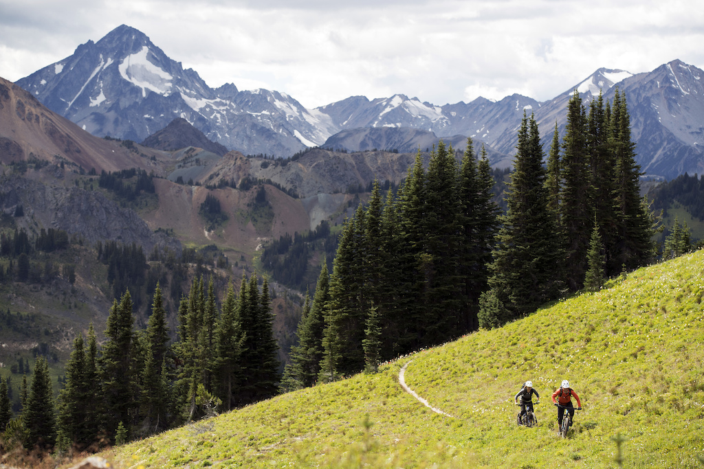 WHISTLER BC - 21-23 August 2016 - during a three day ride in the South Chilcotins Provincial Park with Brittany Phelan Katie Zaffke and Seb Kemp for Juliana Bicycles. Photo by Gary Perkin