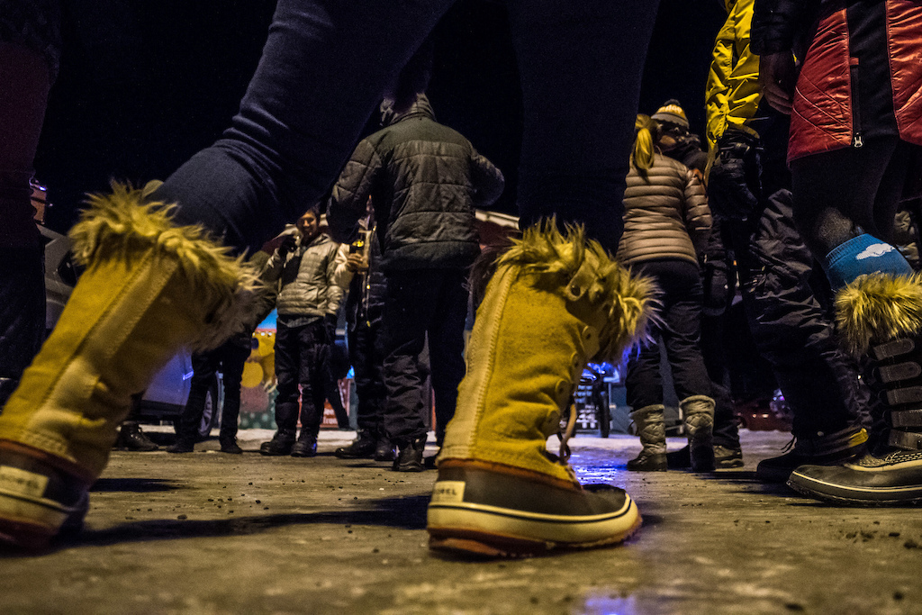 The Chugach Fat Bike Bash has one of the few dance parties where Sorel snow boots are the fashionable footwear attire.