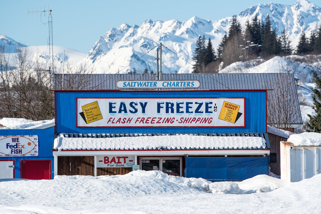 The Easy Freeze fish processors were froze out for the winter.