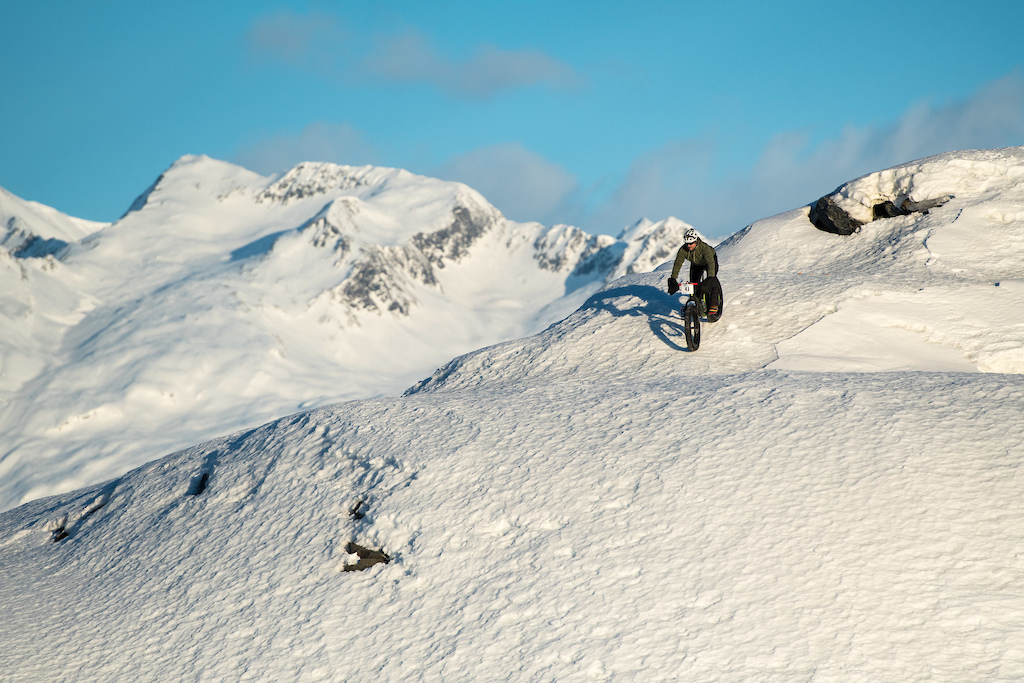 When the snow is supportive or wind hammered fat bike freeride opportunities are available all over and around Valdez.
