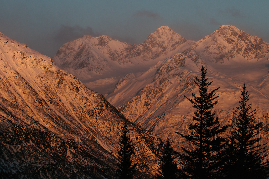 There was no shortage of gorgeous alpine glow to be found in Valdez. Photo Robb Thompson