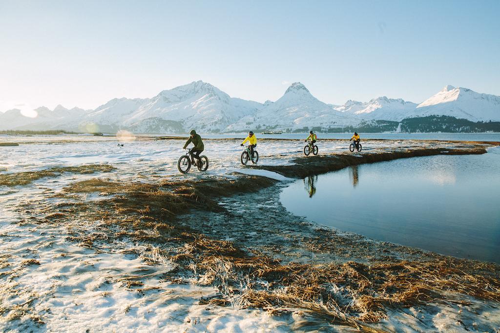 Some of the crew explorring the Valdez inlet. Photo Robb Thompson