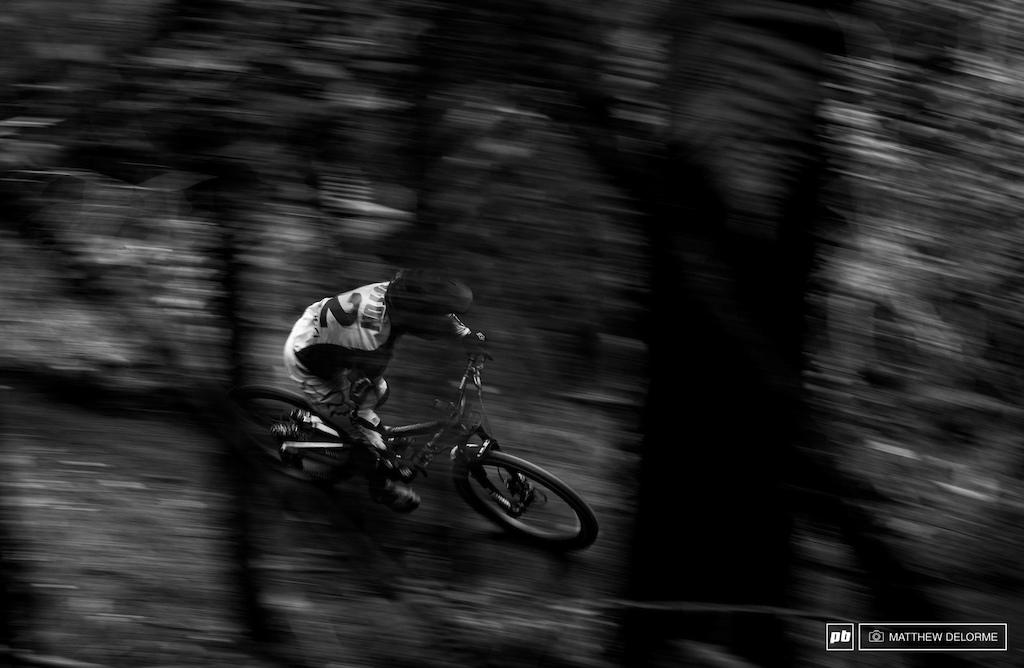 Damion Oton speeding through the jungle.