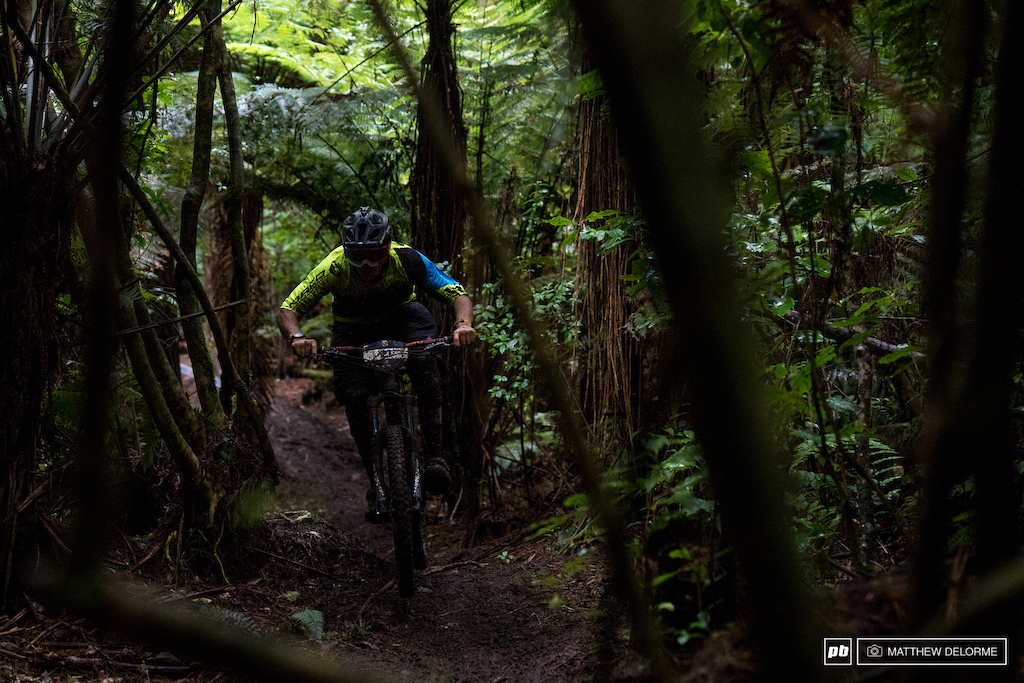 Sam Blenkinsop crushing it on stage The Kiwi certainly has a knack for enduro.