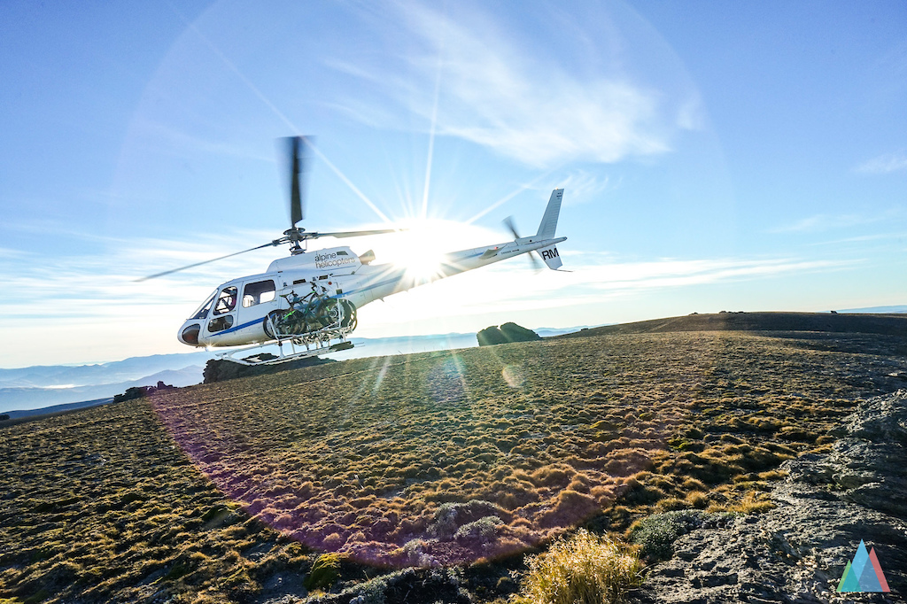 Alpine Helicopters Wanaka and sunrise