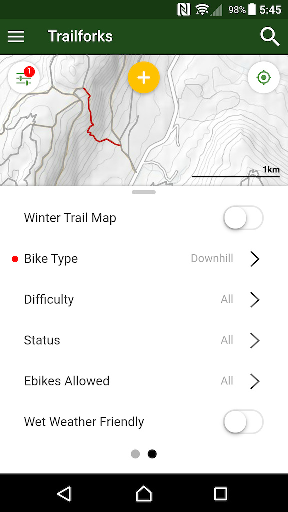 map trail filters