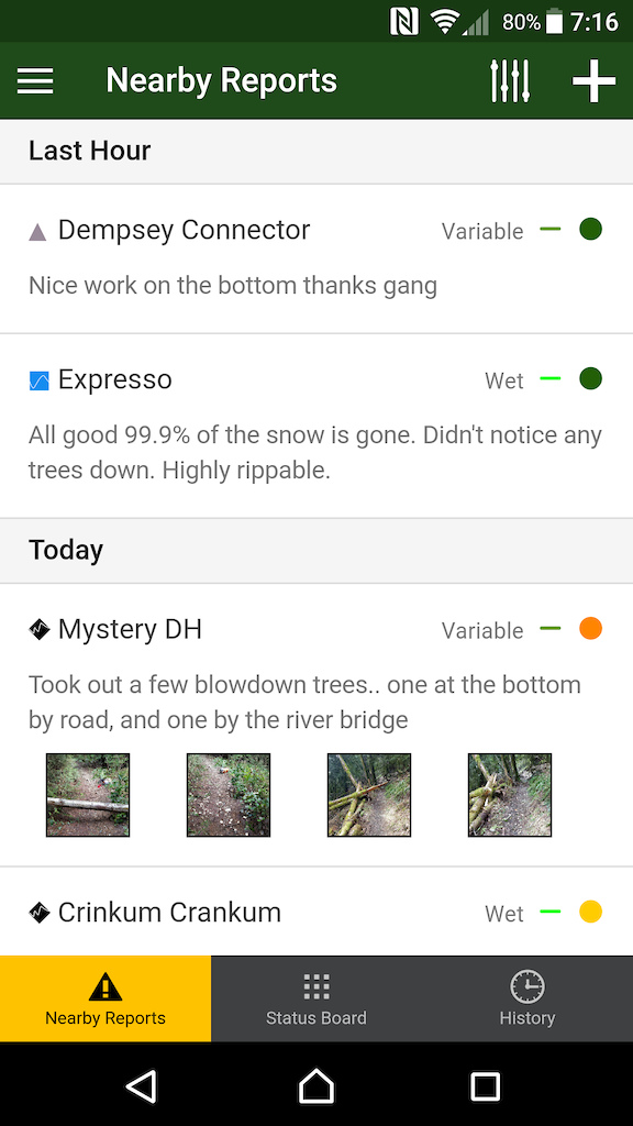 nearby reports