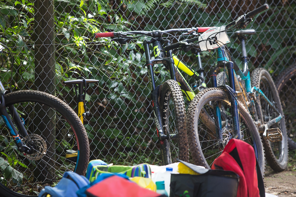 Bikes all over at the Professionals Rotorua National Schools MTB Championships Presented by Altherm Window Systems. Credit Fraser Britton Crankworx