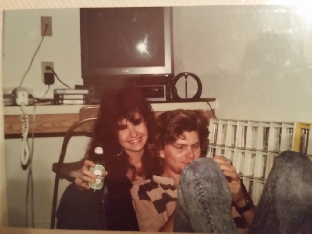 Just young pups we were... 1989 at our friends apartment. I still tell her how lucky she is to this day...hahaha