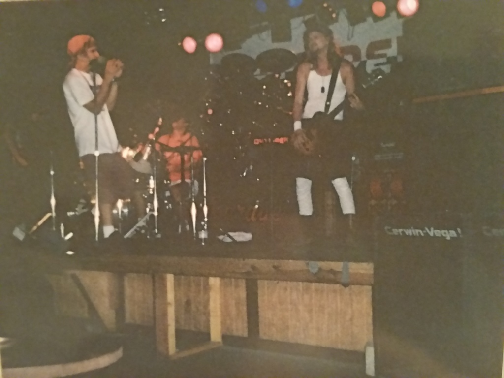 1992 early Anorexic Cafe gig at Joe's Garage. Jeff Adcock; vocals, Chris Adcock; drums, Steve Ainsworth; bass Hill- billly in combat boots; me...