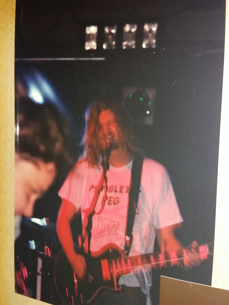 Tripping down memory lane tonight. Me around 1993, sporting our good friends, Mumblety Peg's, band t-shirt