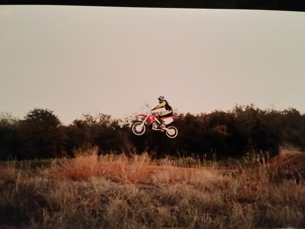 From 2000, my then new CR250 at the old Moto track in Covington, Texas