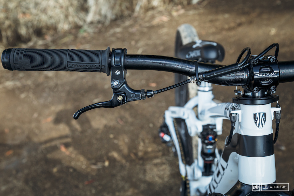 Brandon Semenuk's Trek Ticket S slopestyle bike - Odyssey BMX Monolever for braking