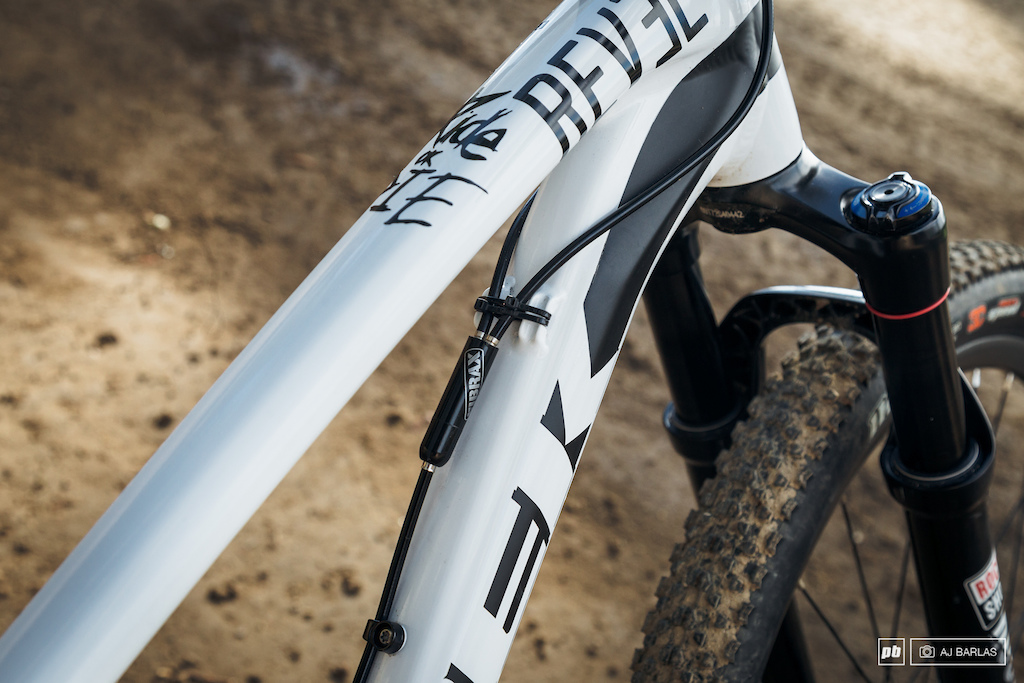 Brandon Semenuk's Trek Ticket S slopestyle bike - A more regular styled gyro to what we're seeing on some bikes.