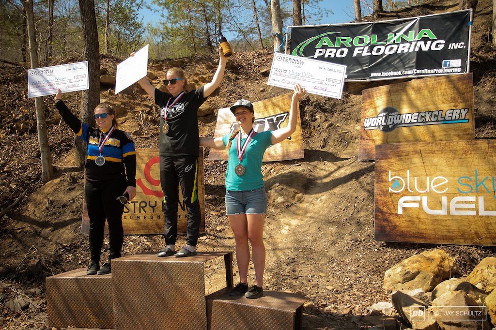 Women s Open Podium 3. Megan Hutton right 03 44.5 2. Angelina Palermo left 3 17.2 1. Frita Ronning center 3 10.2
