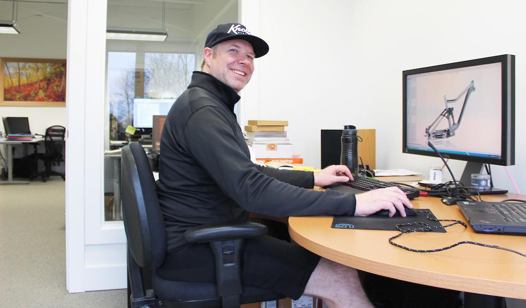 Noel at the design desk