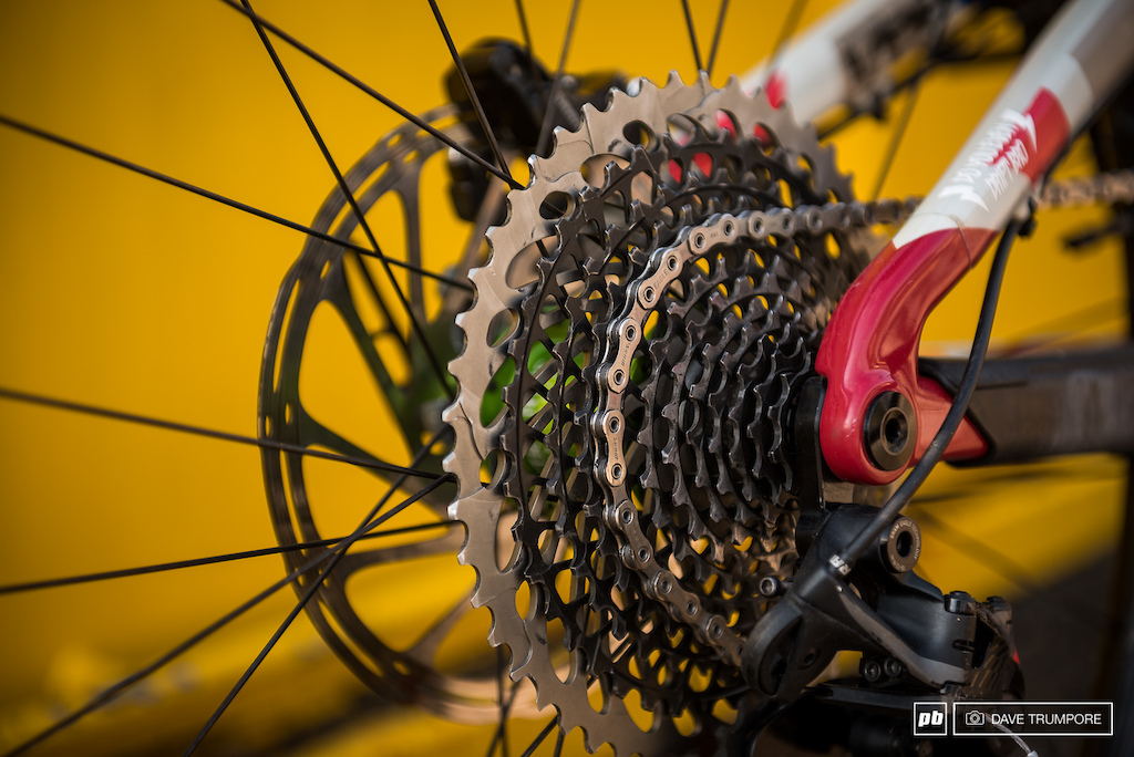 No need for a from derailleur when running Eagle