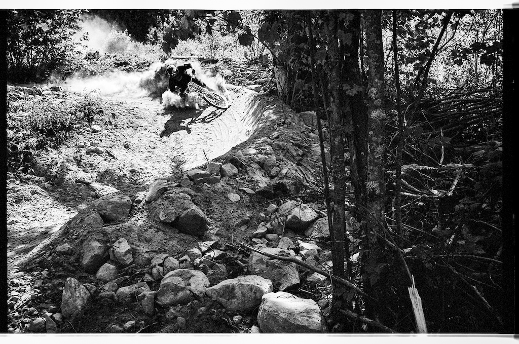 Garett Buehler is kicking up some dust for the black and white contrast.